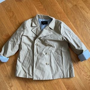 J Crew short trench coat